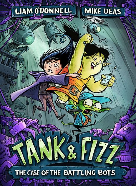 Tank Amp Fizz The Case Of The Battling Bots Deas Illustration